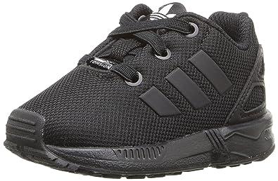 2e2bc2c4ff665 adidas Originals Boys  ZX Flux EL I Running Shoe Black