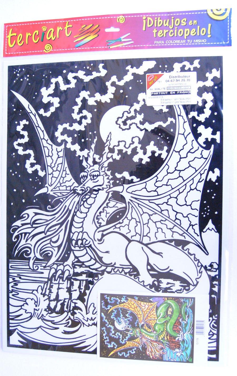 terciart coloriage en Velours d/écor Dragon G178