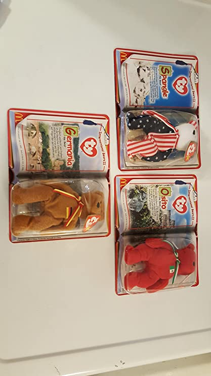 Image Unavailable. Image not available for. Color  Mcdonald s Teenie Beanie  Babies 2000 International Bears ... b612a192c1e0
