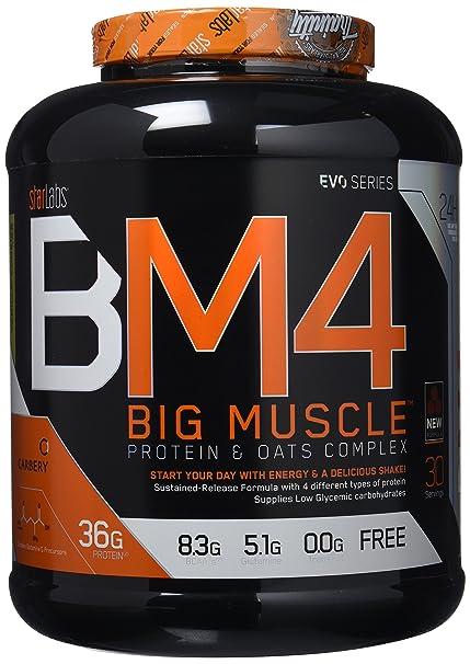 Starlabs Nutrition BM4 Big Muscle Suplemento Nutricional Sabor Galletas de Vainilla - 2000 gr