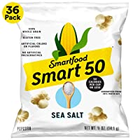 36-Pack Smart50 Popcorn, Sea Salt, 0.5oz Bags