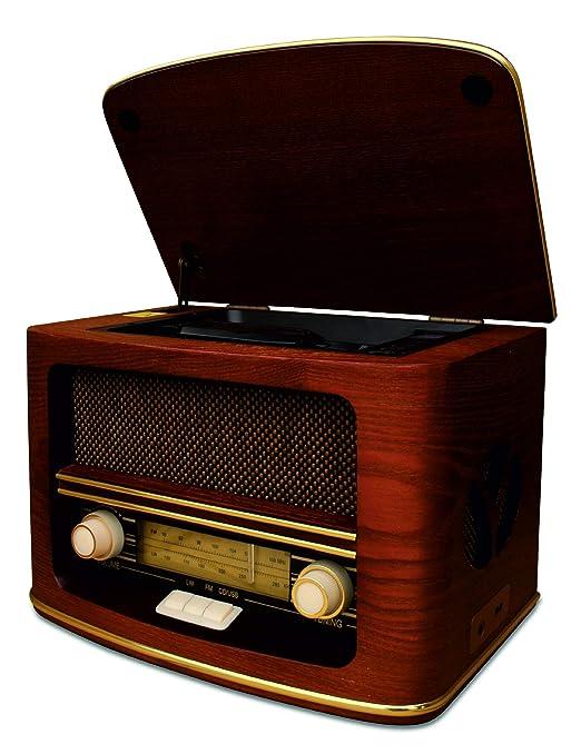 Radio Antigua Vintage Madera Autentica, Radio CD MP3,Retro USB ...