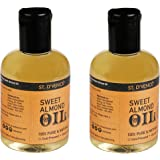 ST. D'VENCÉ 100% Pure Sweet Almond Coldpressed Carrier Oil (Almond Oil, 100 ml (Pack of 2))