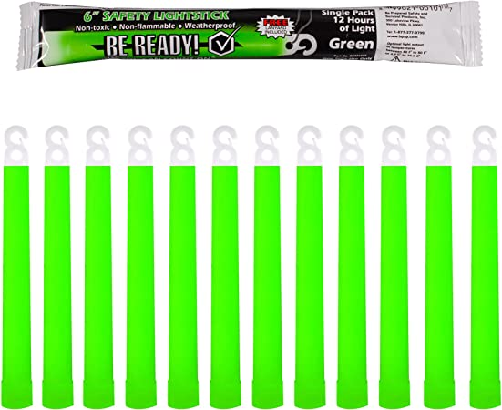 Be Ready 12 Hour Glow Sticks (12 pack)