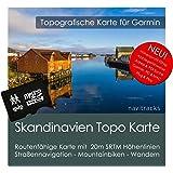 Skandinavien (Dänemark Norwegen Schweden Finnland) Topo Garmin Karte - 8GB microSD Topografische GPS Freizeitkarte Fahrrad Wandern Touren Trekking Geocaching Outdoor. Navigationsgeräte, PC & Mac