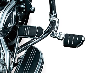 Kuryakyn 7980 Longhorn Offset Dually Highway Peg with 1 Magnum Quick Clamps