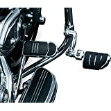 """Kuryakyn 7555 Motorcycle Foot Controls: Longhorn Offset Trident Dually Highway Pegs with Magnum Quick Clamps for 1-1/4"""" Engin"""