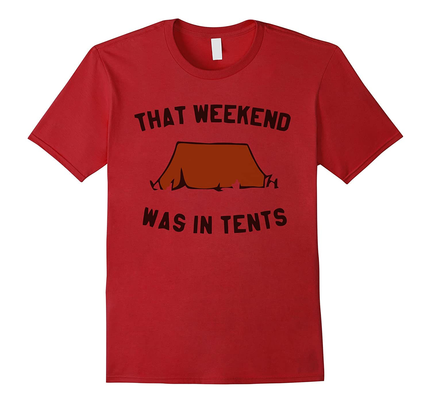 camping tee,That Weekend Was In Tents Womens - Coffee tshirt-CL