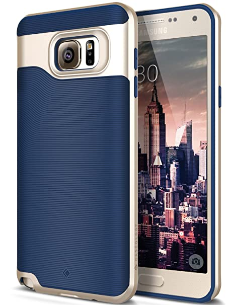 sports shoes 1ea3a afc27 Caseology Wavelength for Galaxy Note 5 Case (2015) - Stylish Grip Design -  Navy Blue