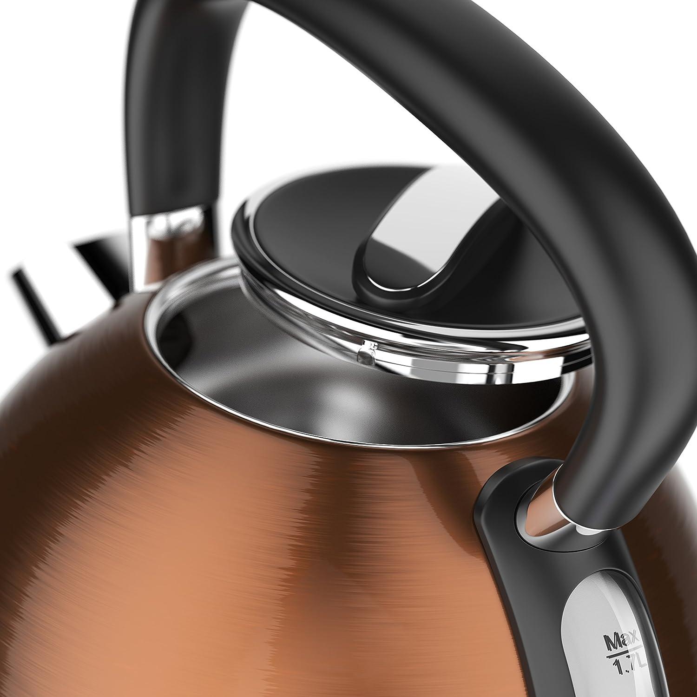 Elección del modelo: tetera (acero inoxidable Arendo en estilo vintage retro | material: acero inoxidable retro en Design cobre con las aplicaciones ...
