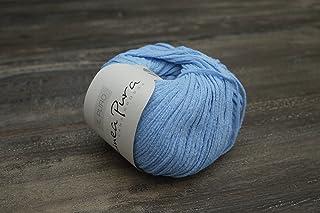 Linea Pura il puro FB. 008(blu) in 100% bio di seta di lana grossa