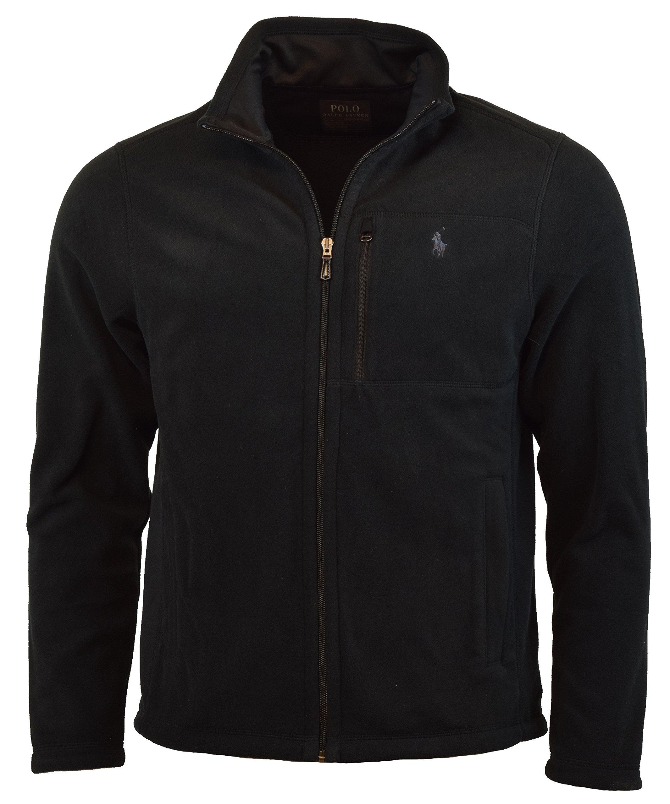 Polo Ralph Lauren Men's Performance Full Zip Fleece Jacket (L, Black)