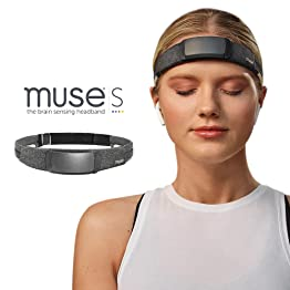 MUSE S: 脳をセンシングするヘッドバンド - ガイド付き瞑想と睡眠 マルチセンサーヘッドセット | プレスリープトラッカー 応答オーディオ付き | フィードバックデバイスは脳の波、心臓、呼吸、体の活動を監視します。