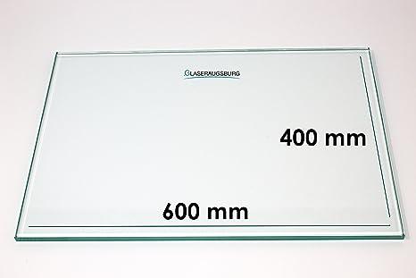 Klarglas 4 mm stark 565 mm x 280 mm alle Ma/ße lieferbar Glasplatte//Glasregal