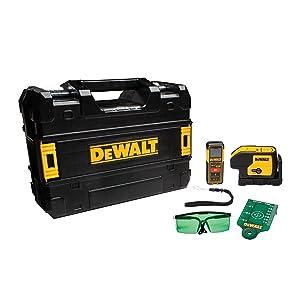 DEWALT DW0839CG TSTAK Laser Kit: DW083CG 3-spot Laser + DW099E 99ft Laser Distance Measurer