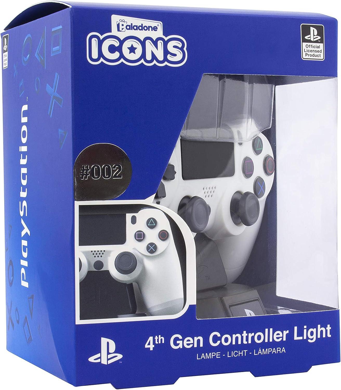 Paladone PlayStation DS4 Controlador Icon Light BDP, Ideal para dormitorios infantiles, oficina y hogar, Mercancía para juegos de cultura pop, multicolor, PP6398PS: Amazon.es: Hogar