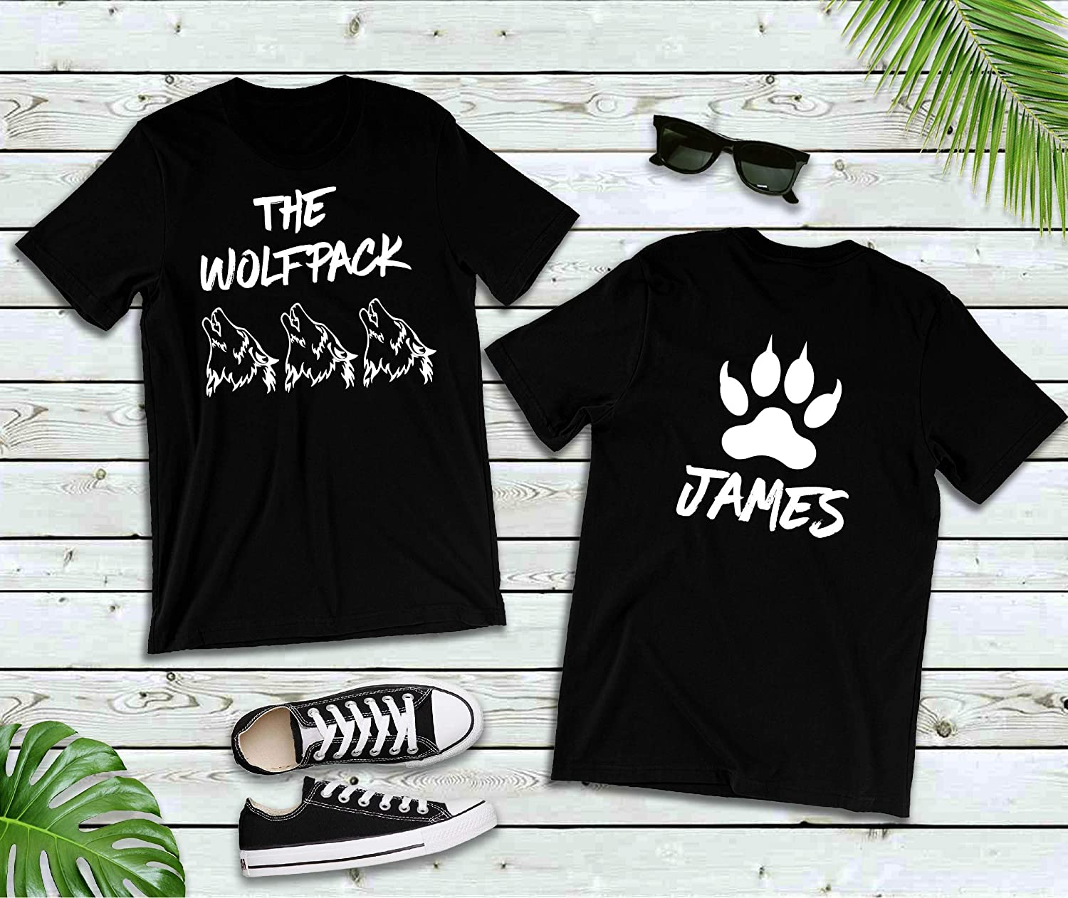 f43d887253cd1 Amazon.com: The Wolfpack T Shirts, Bachelor Birthday Party, Custom ...