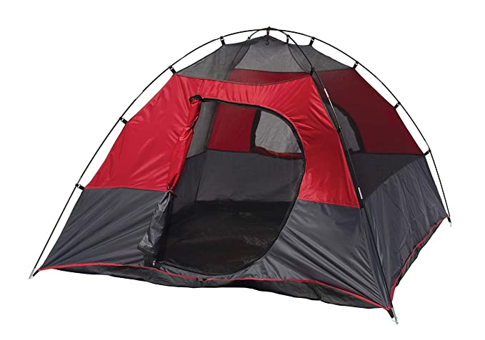 Texsport Lost Lake Square Dome Camping Outdoor Tent, Molten Lava/Grey