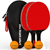 Two Ping Pong Paddle Set JT-200 + Case + 3 ABS Ping Pong Balls from Sport Game Pro …