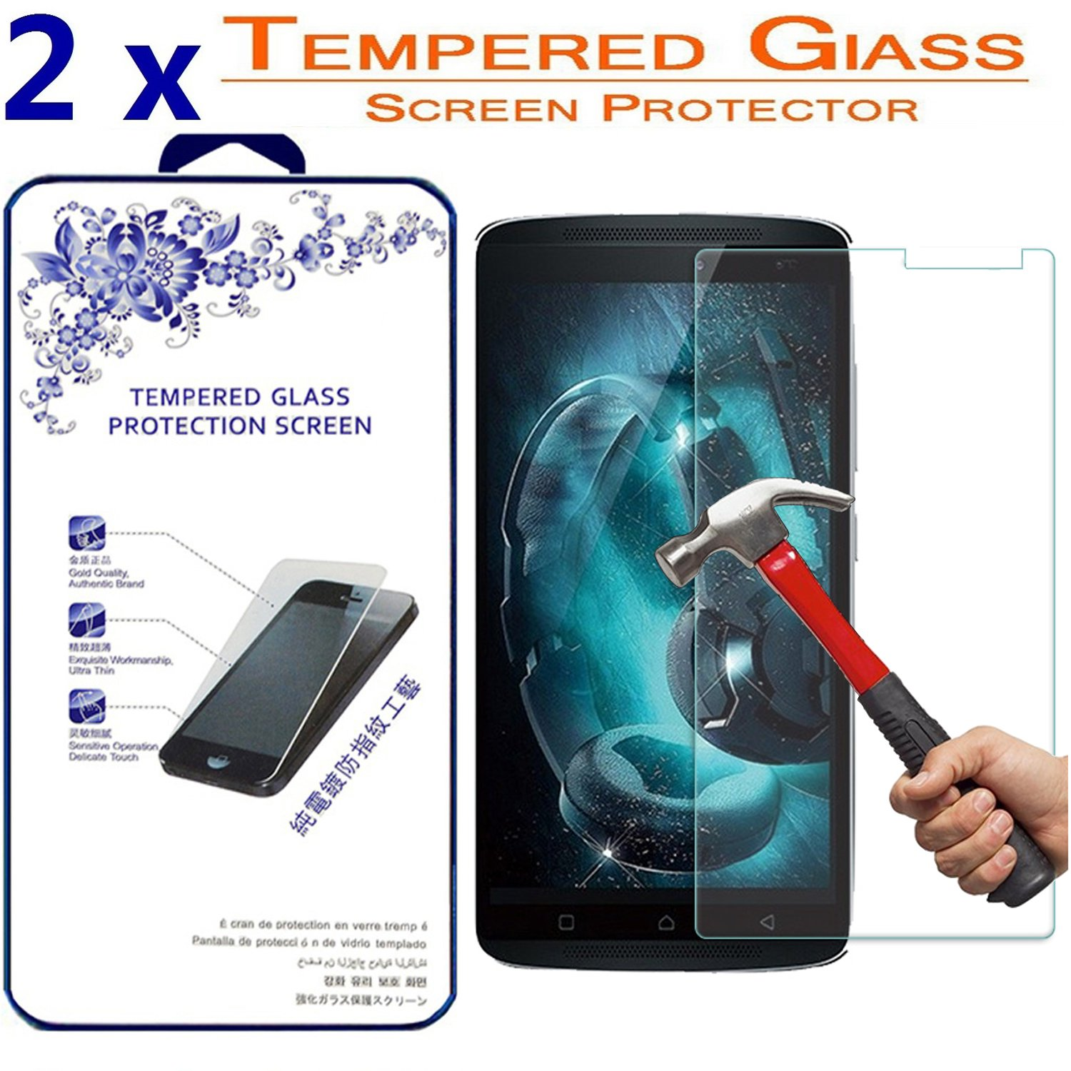 Amazon.com: 2x For Lenovo K4 Note / A7010 / X3 lite [ Tempered Glass ] Screen Protector ([2 Pack] For Lenovo K4 Note / A7010): Cell Phones & Accessories