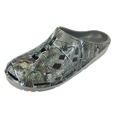 Realtree Men's Camouflage Clog Slip-on Shoe, Camo Print Clogs, Mens Size 8 to 13 | Mules & Clogs