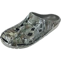 Realtree Men's Camouflage Clog Slip-on Shoe, Camo Print Clogs,Indoor Outdoor Clogs,Men's Size 8 to 13 / Women's Size 10…