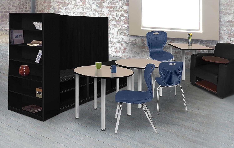 36 Regency Kitt Square Breakroom Table Darkest Brown//Black
