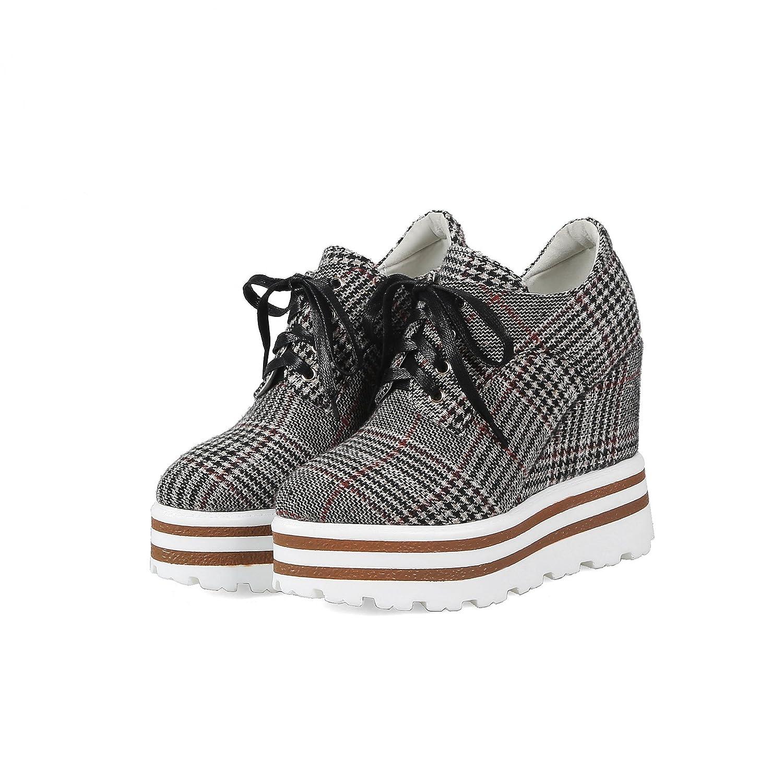 QIN&X QIN&X QIN&X Frau Ferse Fersen Plattform Schuhe  Grau 2370c0