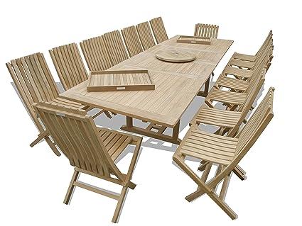 Amazoncom Windsors Premium Grade A Teak X Rectangular - Teak extension table outdoor