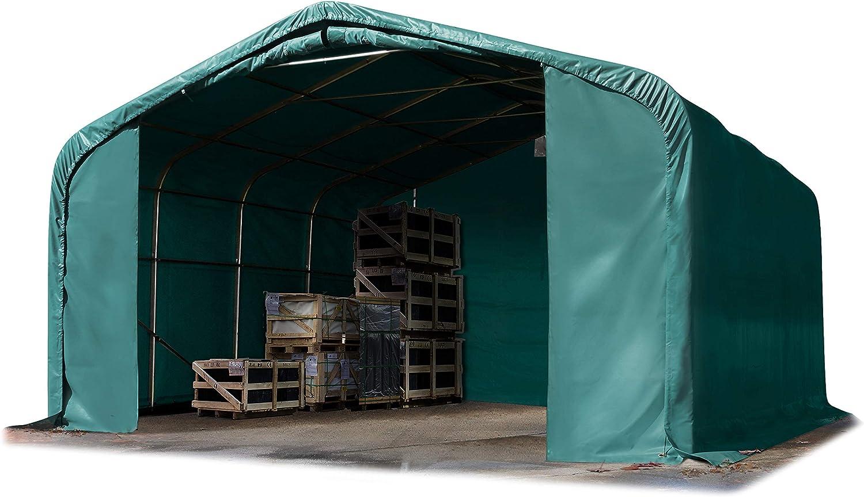Das Company Grande Tendone Deposito 4x12x3m Grigio Impermeabile ignifugo Tenda di Stoccaggio Industriale Magazzino per Tutto LAnno 600g//m/² PVC Winter Plus SFR