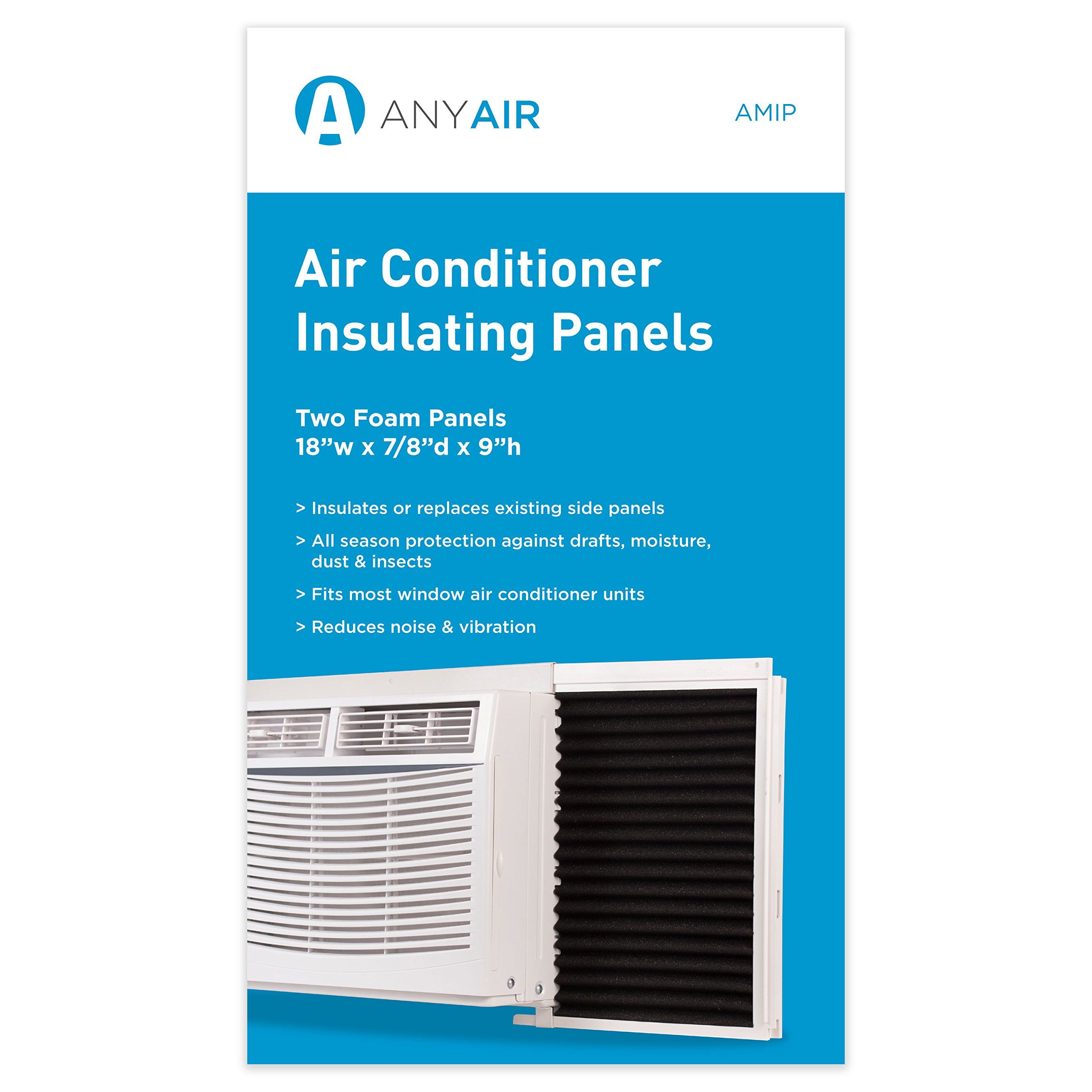 AnyAir Window Air Conditioner Foam Insulating Panels-All Season Protection-Pack of 2
