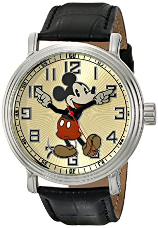Mickey Mouse Watch Value >> Amazon Com Disney Men S 56109 Vintage Mickey Mouse Watch With