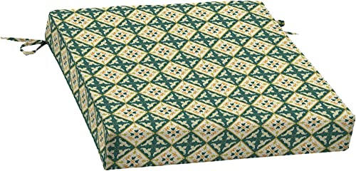 Arden Companies Arden Artisans Khalid Moroccan Tile Traditional Seat Pad – 21 in L x 21 in W x 4.5 in H