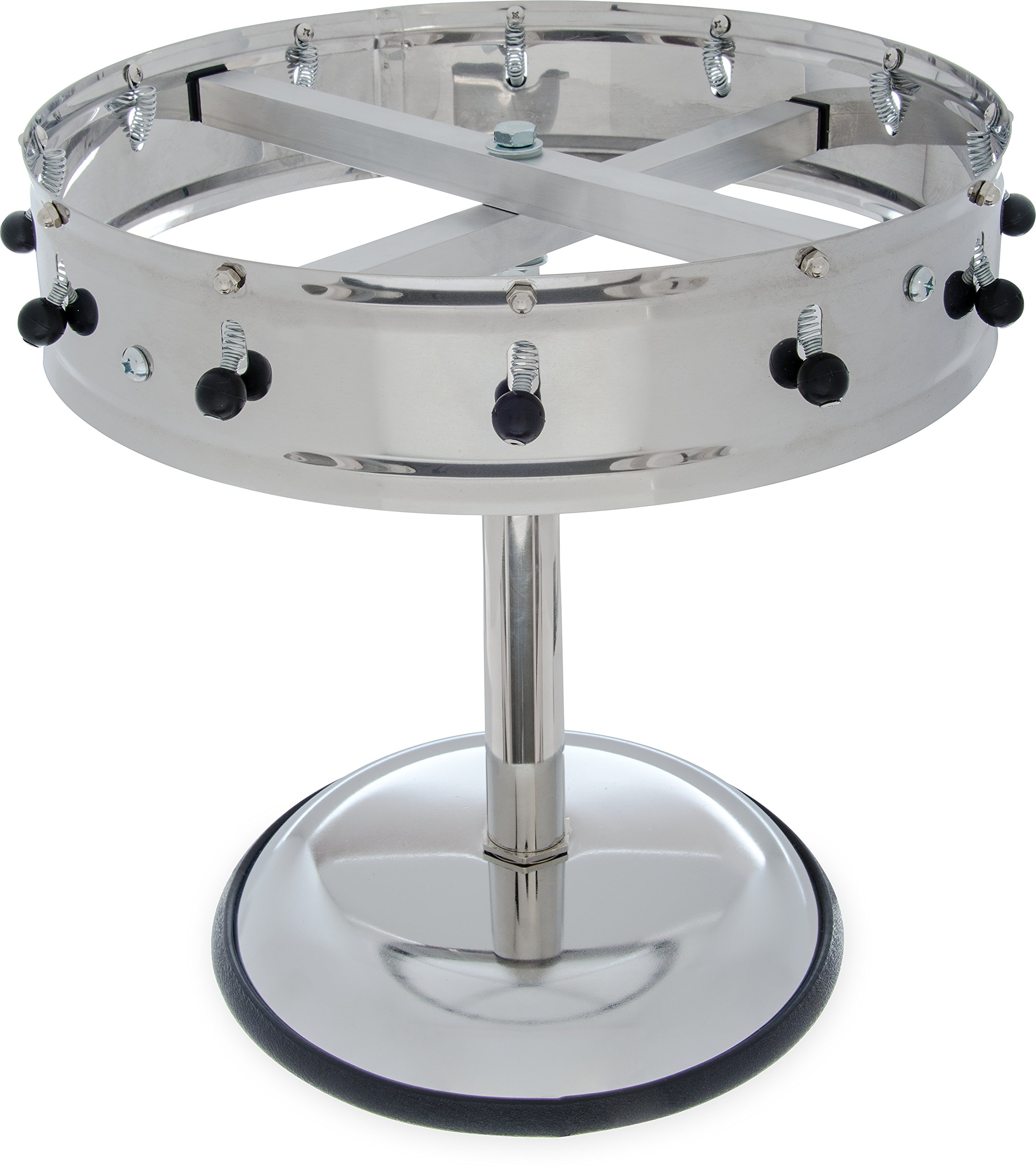 Carlisle 3812MP Stainless Steel Portable Order Wheel with 12 Clips, 14'' Diameter x 5.75'' Height