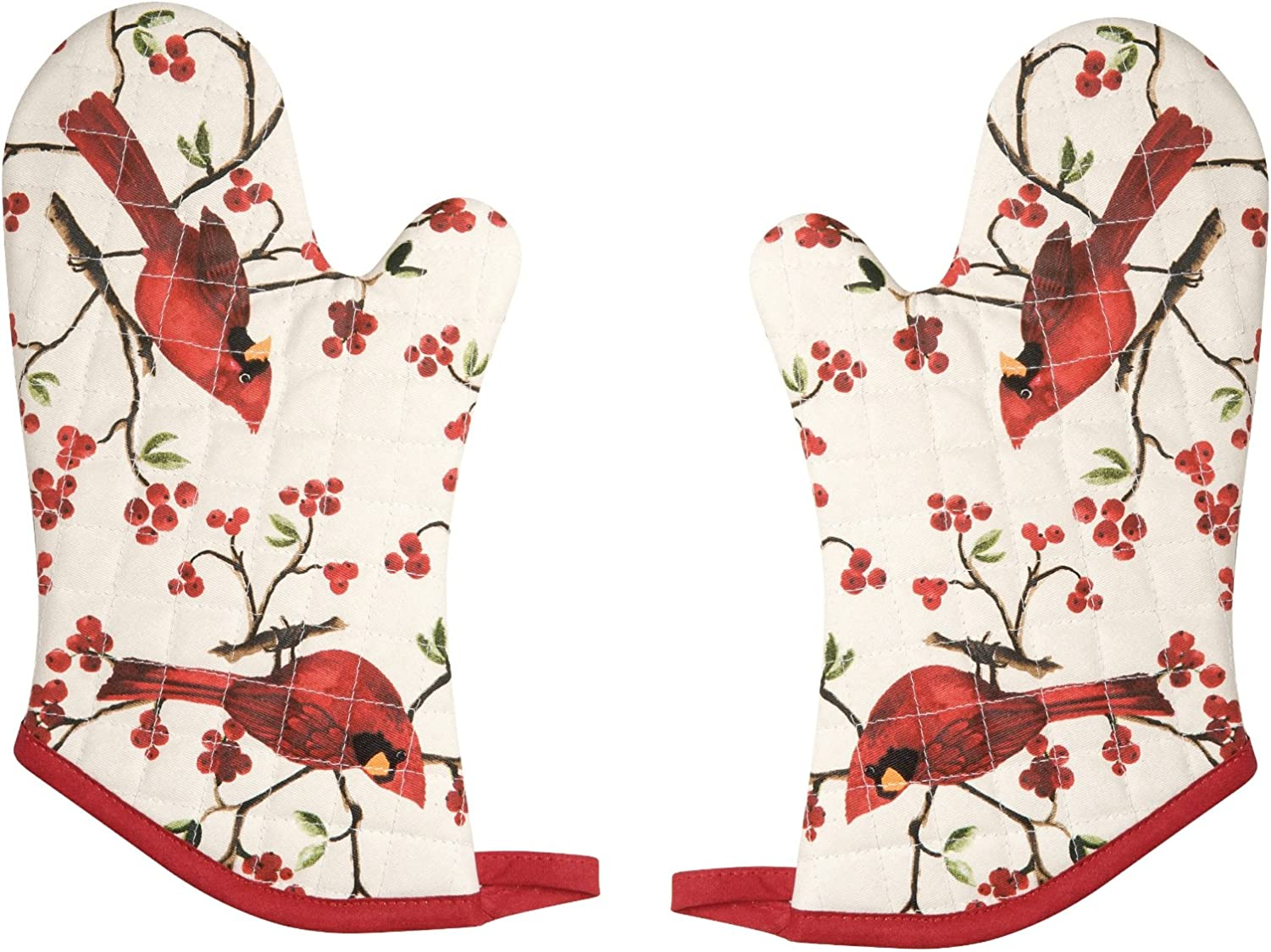 Now Designs Basic Oven Mitt, Cardinals - 6.5 x 13 in | Set of 2