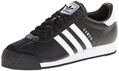 b73474494f55f8 Image Unavailable. Image not available for. Color  adidas Originals Samoa  Retro Sneaker Running Shoe Black White ...