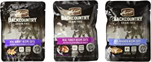 Merrick Backcountry Grain Free Wet Cat Food Pouches, 6 Flavors, 3-Ounces Each (12 Total Pouches)