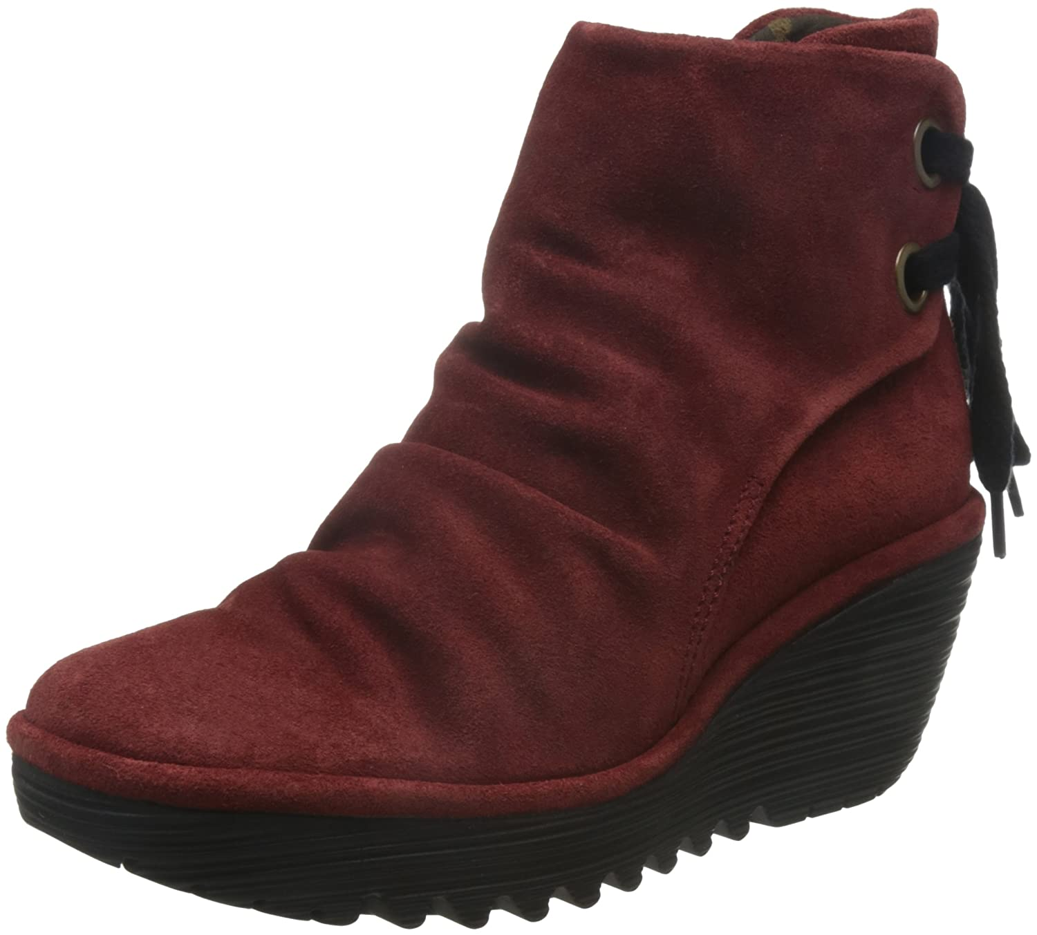FLY London Women's Yama Ankle Boot B01E83R1BU 37 M EU / 6.5-7 B(M) US|Red