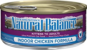 Natural Balance Ultra Canned Cat Food Indoor Chicken Formula