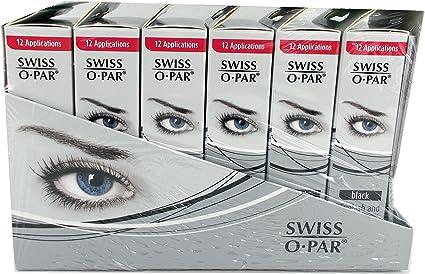 Swiss o par pestañas y cejas Tinte Kit Negro (Pack de 6)