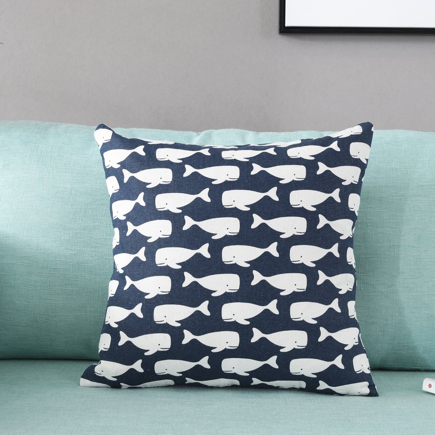 TAOSON American Pastoral Wheat Pattern Cotton Flax Soft Home Decorative Throw Cushion Cover Pillow Cover Pillowcase with Hidden Zipper Closure Only Cover No Insert 18x18 Inch 45x45cm