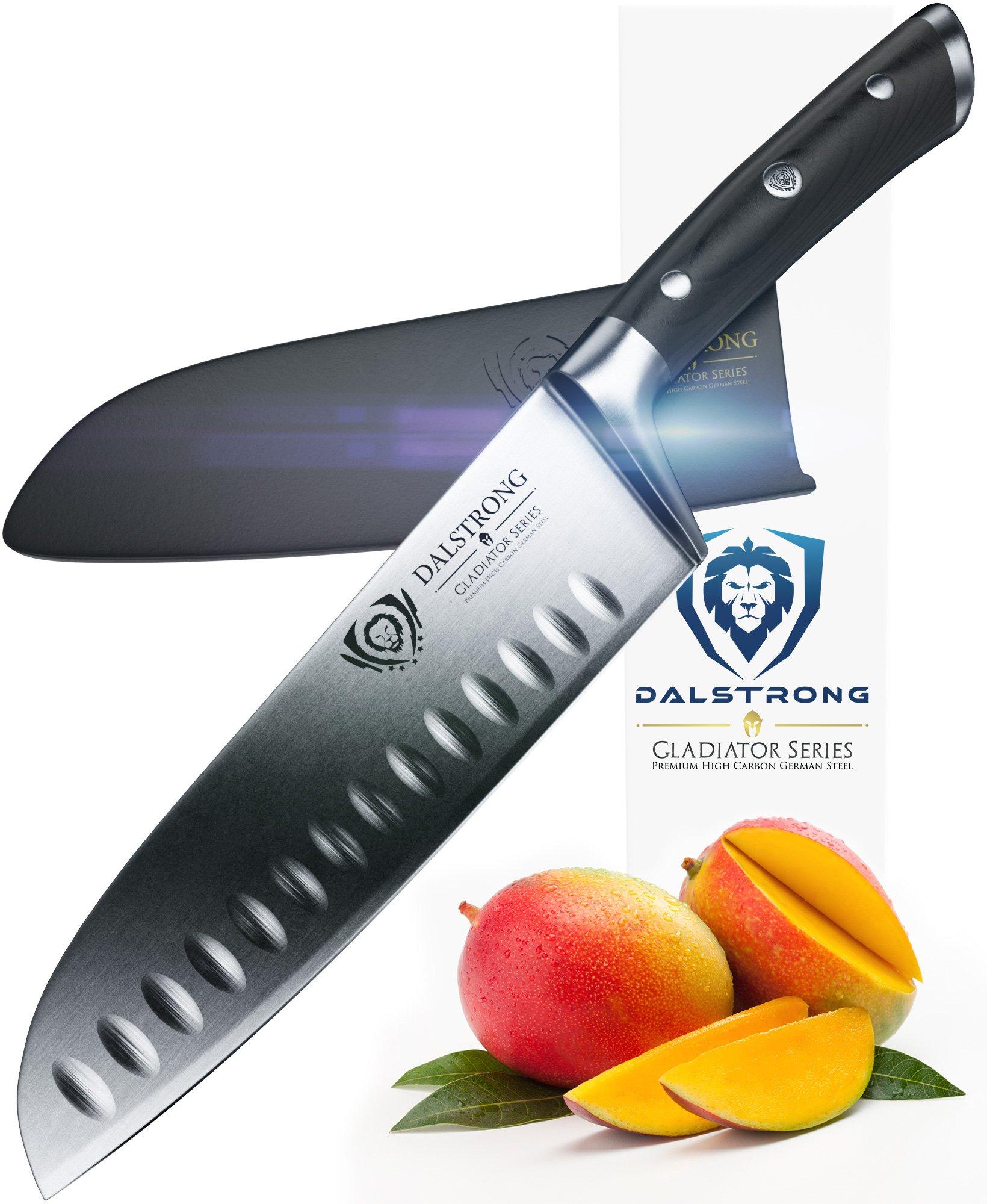 DALSTRONG Santoku Knife - Gladiator Series - German HC Steel - 7'' (180mm)