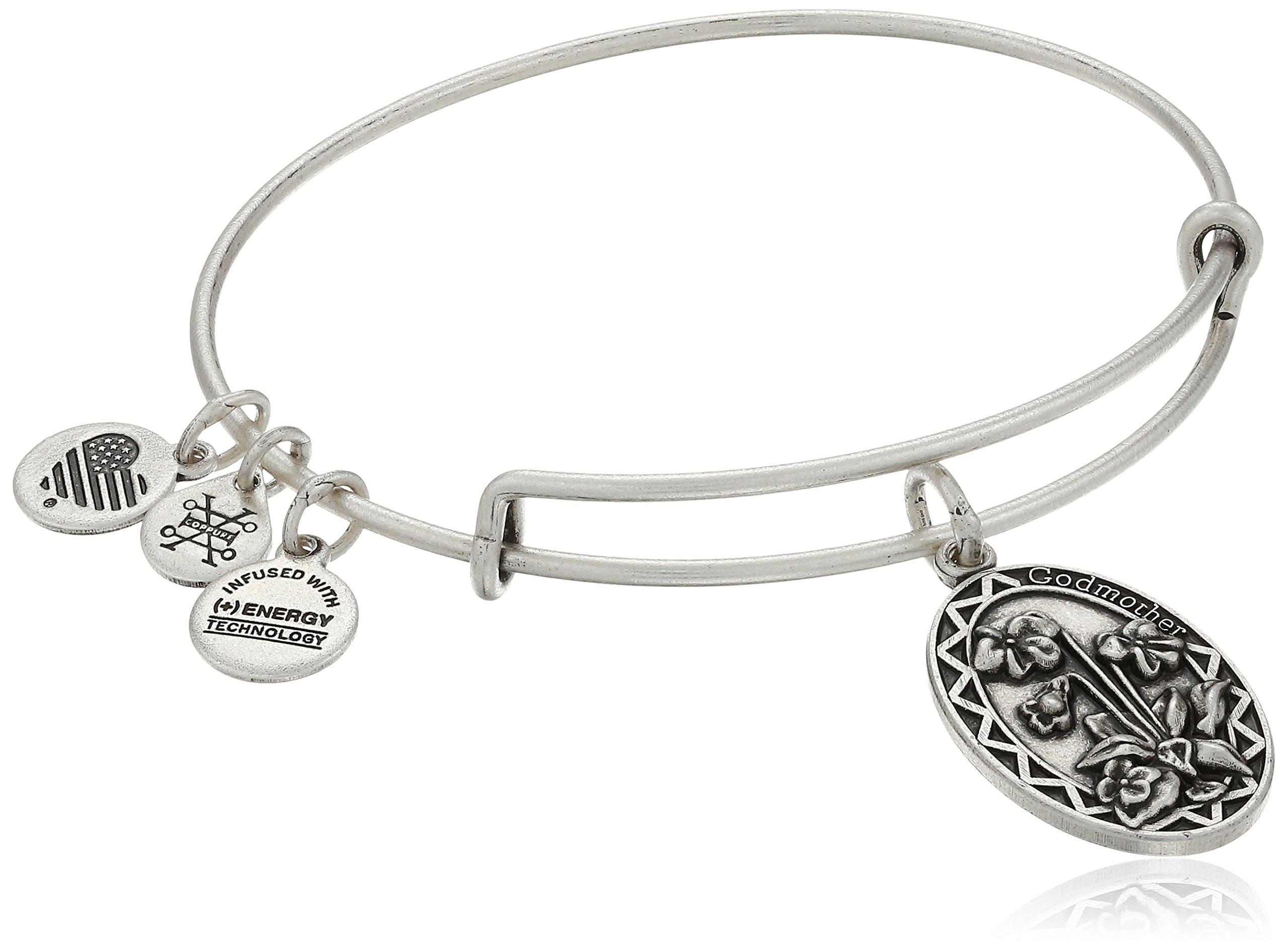 Alex and Ani Godmother Rafaelian Silver Bangle Bracelet