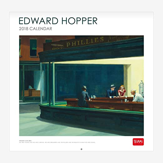Legami CAL18040 - Calendario 2018 de pared, diseño Edward Hopper ...