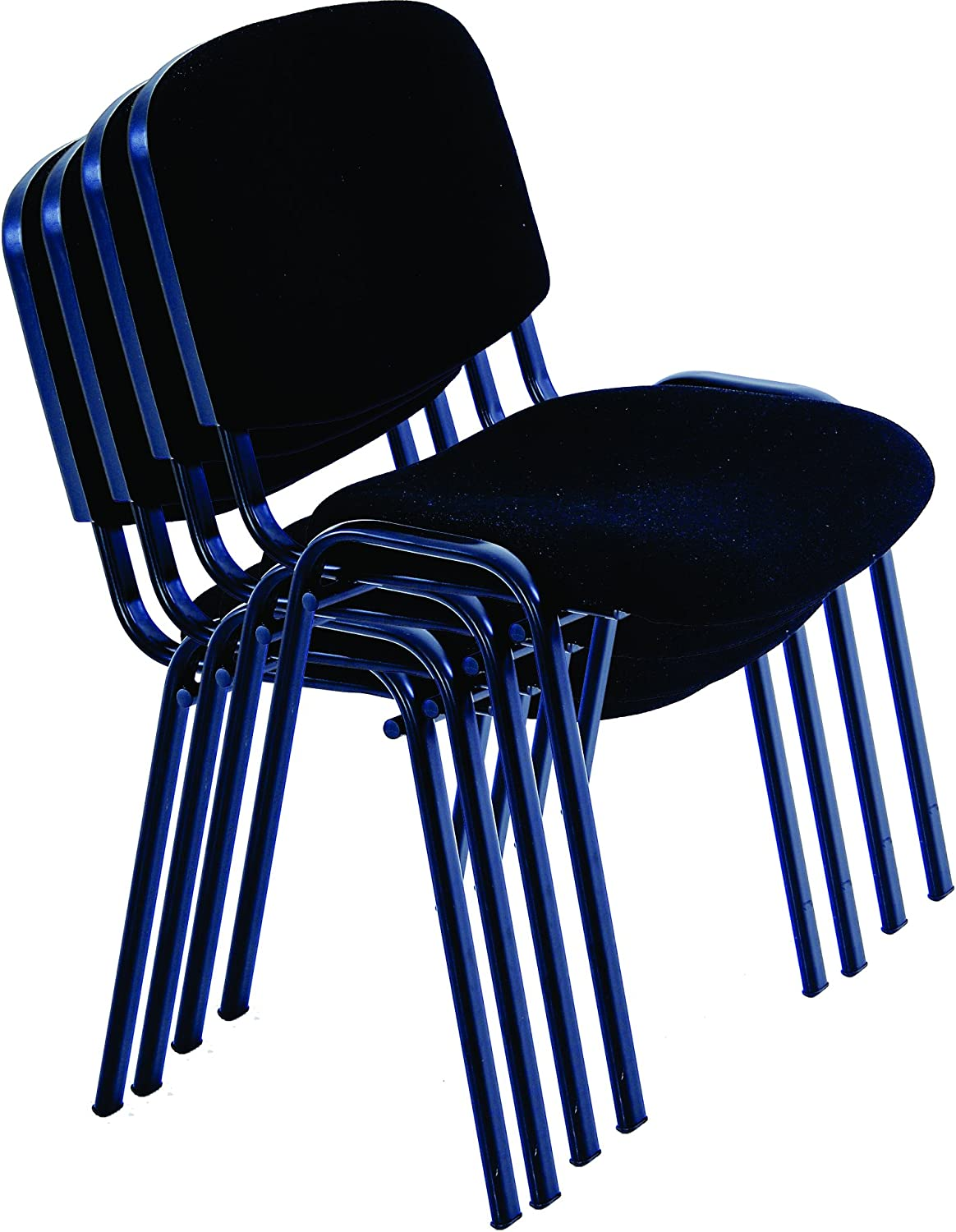 Modern Black Stacking Office Chairs for Office, Training, Conference, Church, Community Centres, Home, Canteen, Hotel, Waiting Room, Events, Office, Reception Area