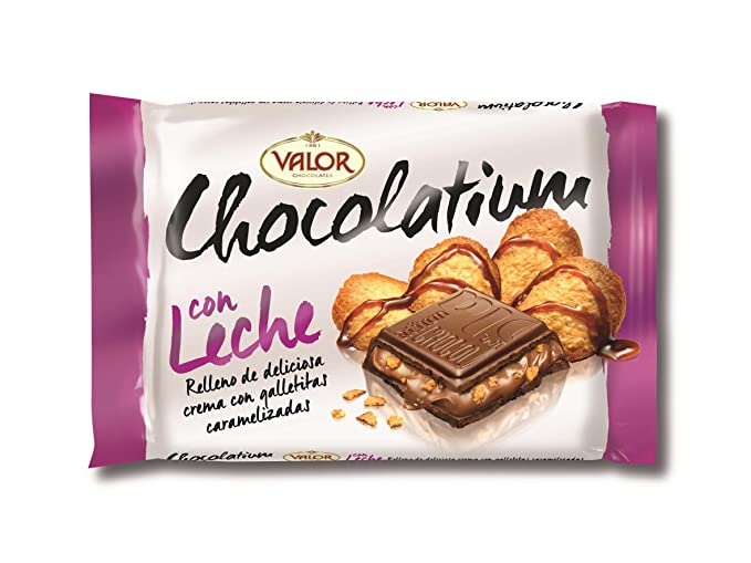 VALOR - Chocolatium Con Leche Relleno De Galleta Caramelizada 100 Gr