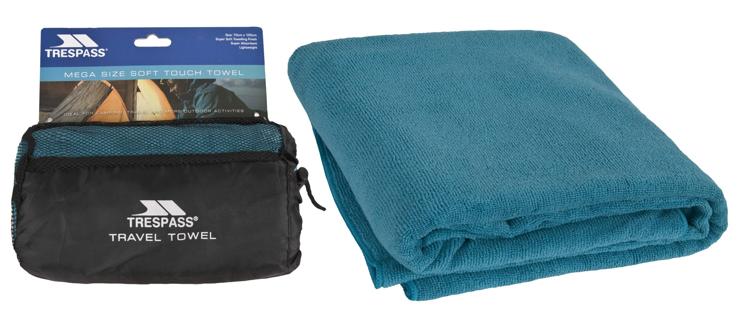 Trespass Wringin Toalla, Unisex Adulto, Azul, 70 x 135 cm product image
