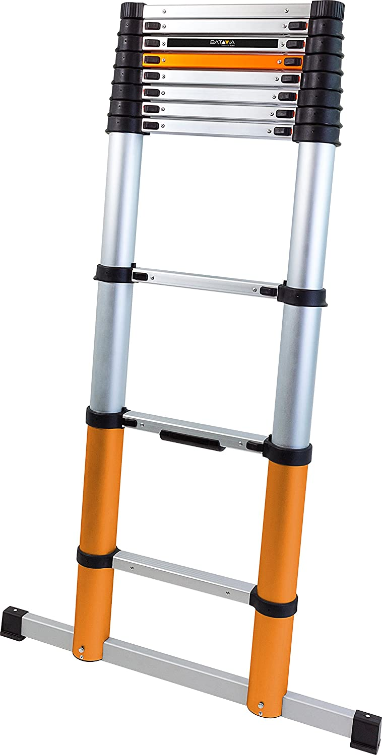 Batavia 7062696 3.25 m Giraffe Air Telescopic Ladder with Stabilisers - Orange/Black/Silver