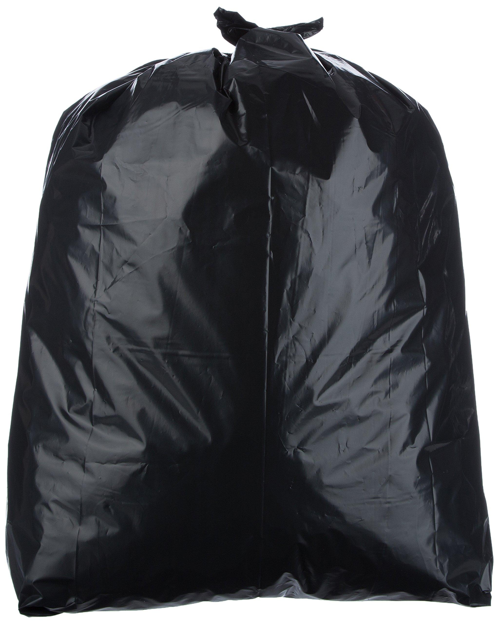 AmazonBasics 42 Gallon Contractor Trash Bag, 3 mil, Black, 75-Count