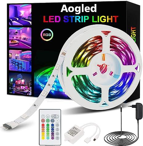 5050 RGB LED Stripe Streifen Wasserdicht Lichterkette Dimmbar Controller 220V DE